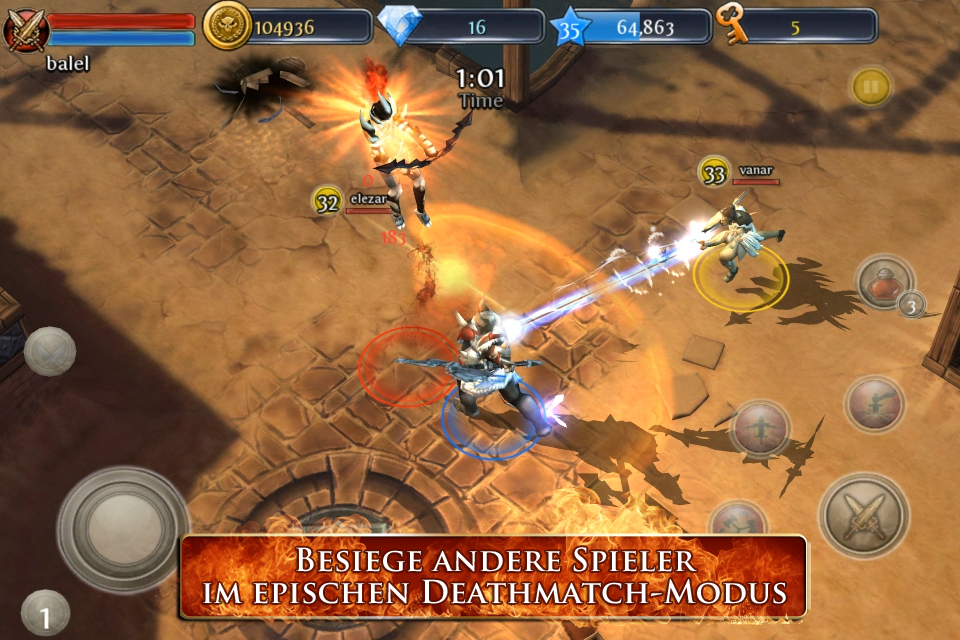 Dungeon Hunter 3 iPhone, iPad Screenshot